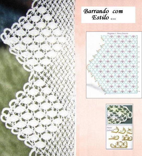 OFICINA DO BARRADO | Crochê&tricô | Pinterest | Ganchillo, Finales y ...