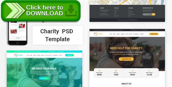 Free nulled PureHeart - Charity \ nonprofit NGO PSD Template download - ngo templates