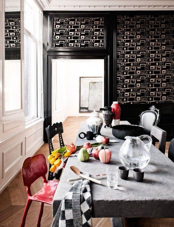 Mixe and match de chaises dépareillées Mismatched chairs, Dining