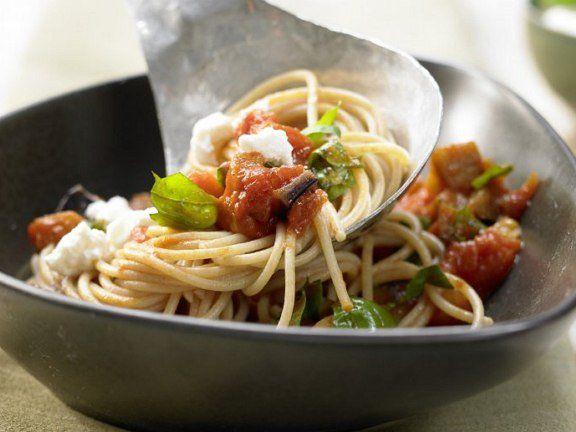 Рецепт приготовления блюда Паста с баклажанами, готовим ...