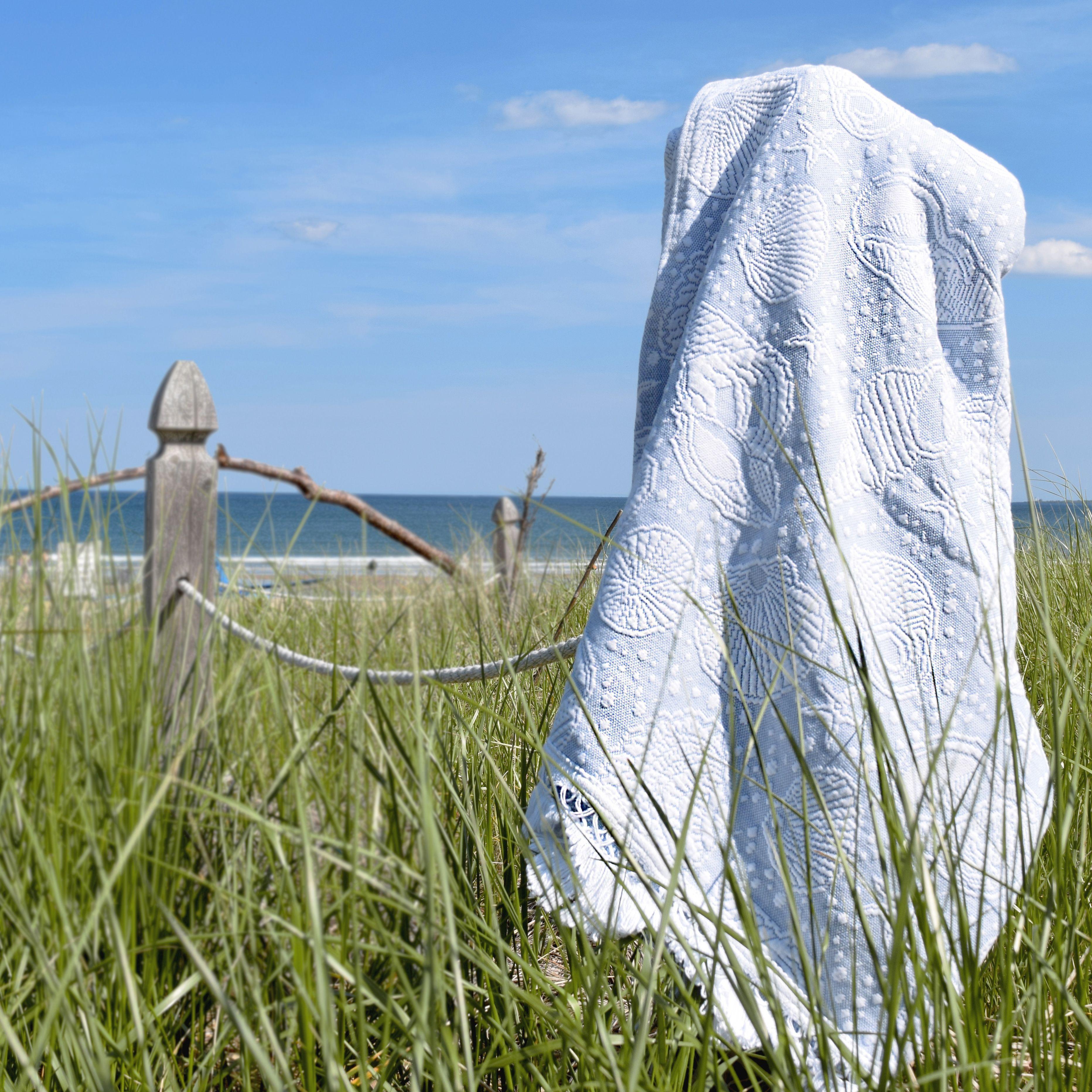 Seashell Throw Old Orchard Beach Maine Loomedtobeheirloomed