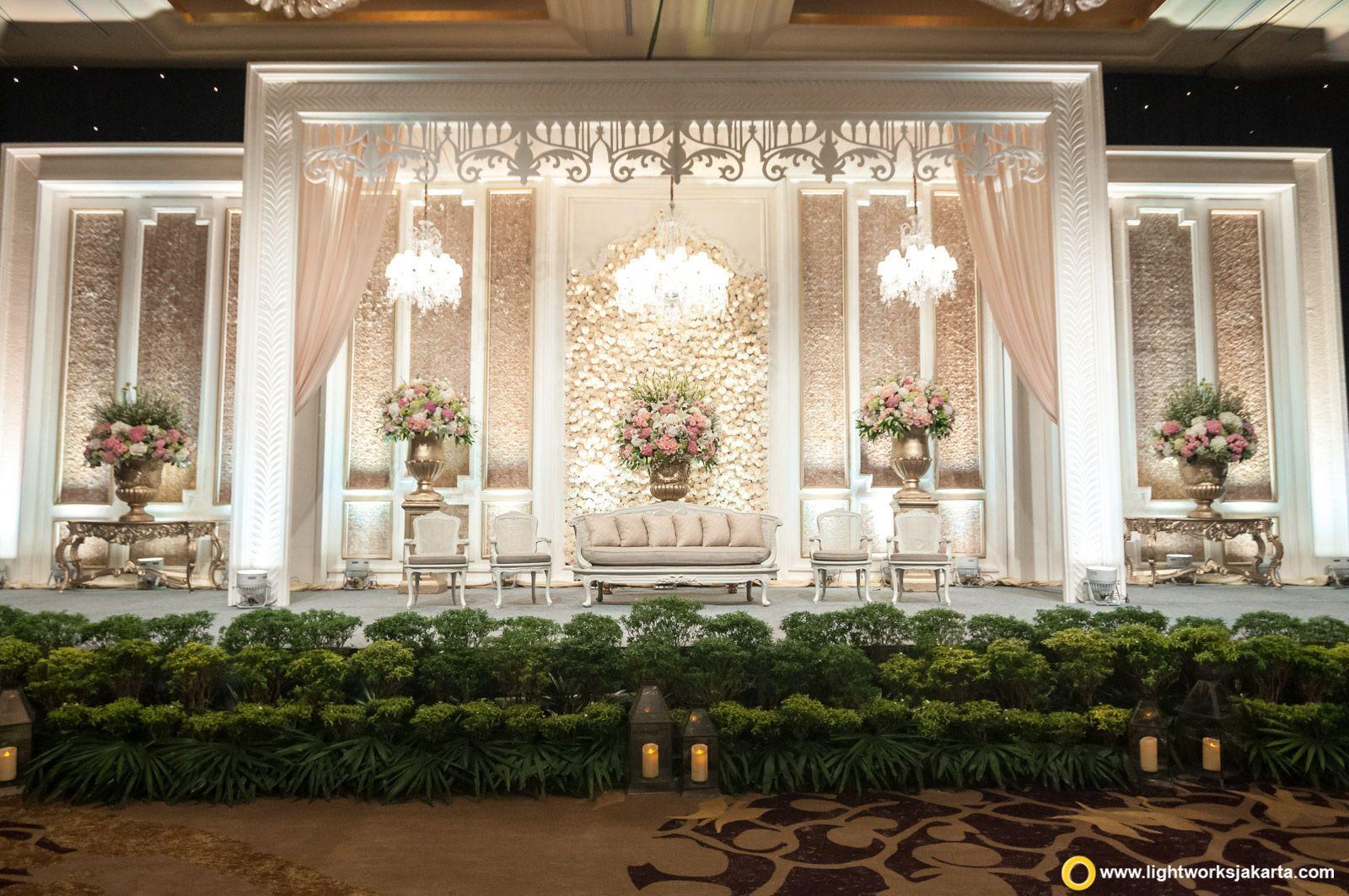 Wedding stage decoration dubai  Nicholas and Yoscefine wedding reception  Venue at Hotel Mulia