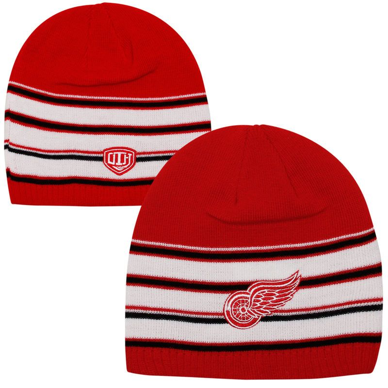 Old Time Hockey Detroit Red Wings Werner Knit Hat - Red