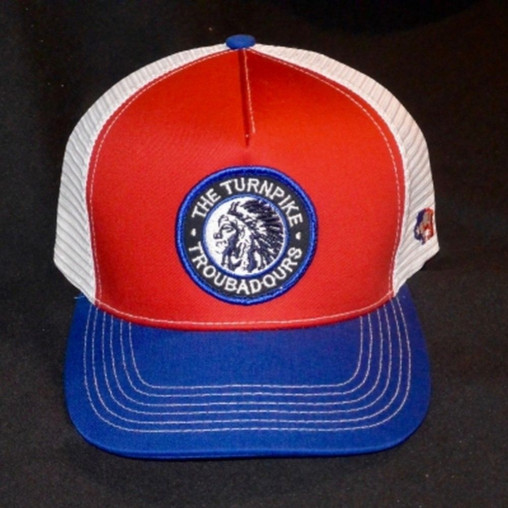 c3b83de8995 Hooey® Men s Red White Blue Turnpike Troubadours Trucker Cap Style   9414T-RDWH