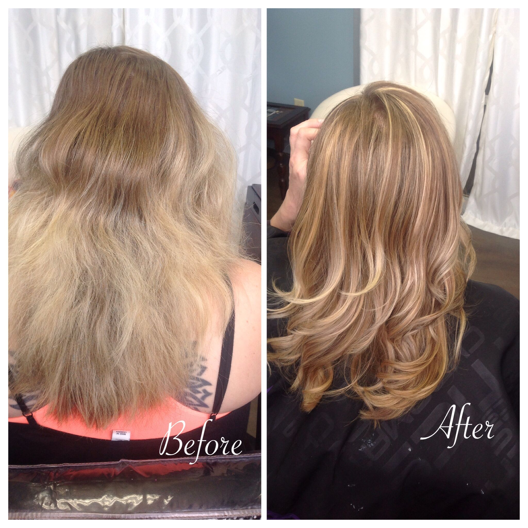 Soft Golden Blonde Balayage Christina Boenker In 2020 Fine Hair Tips Permed Hairstyles Hair Styles