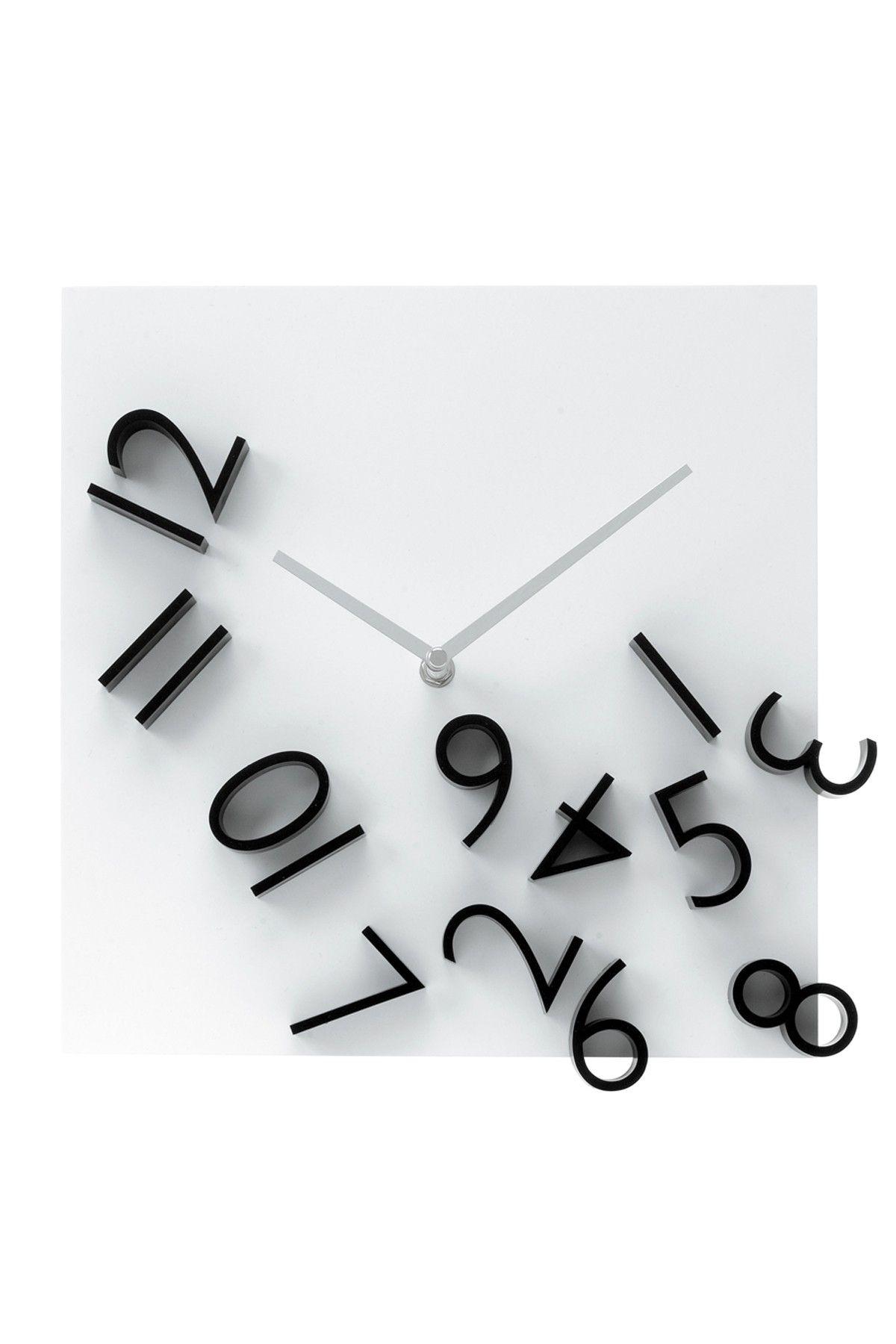 Falling Numbers Wall Clock Wall Clock Wall Clock Design Black Wall Clock