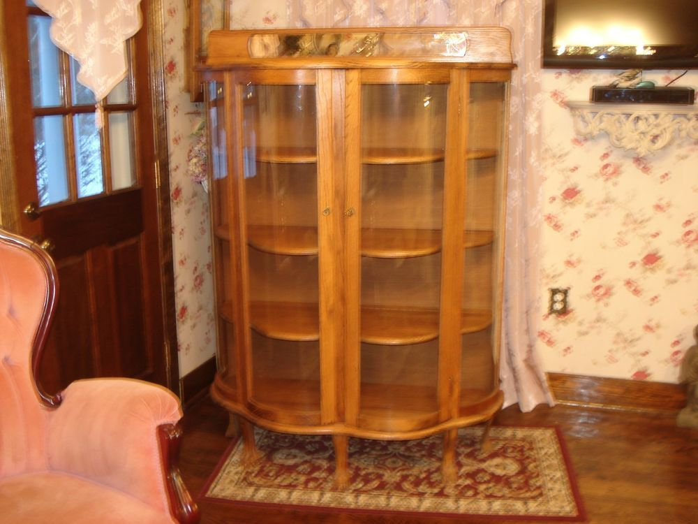 Vinatge Double Door Curved Glass Curio Cabinet - 49 Best Dining Room Images On Pinterest Dining Room, My House And