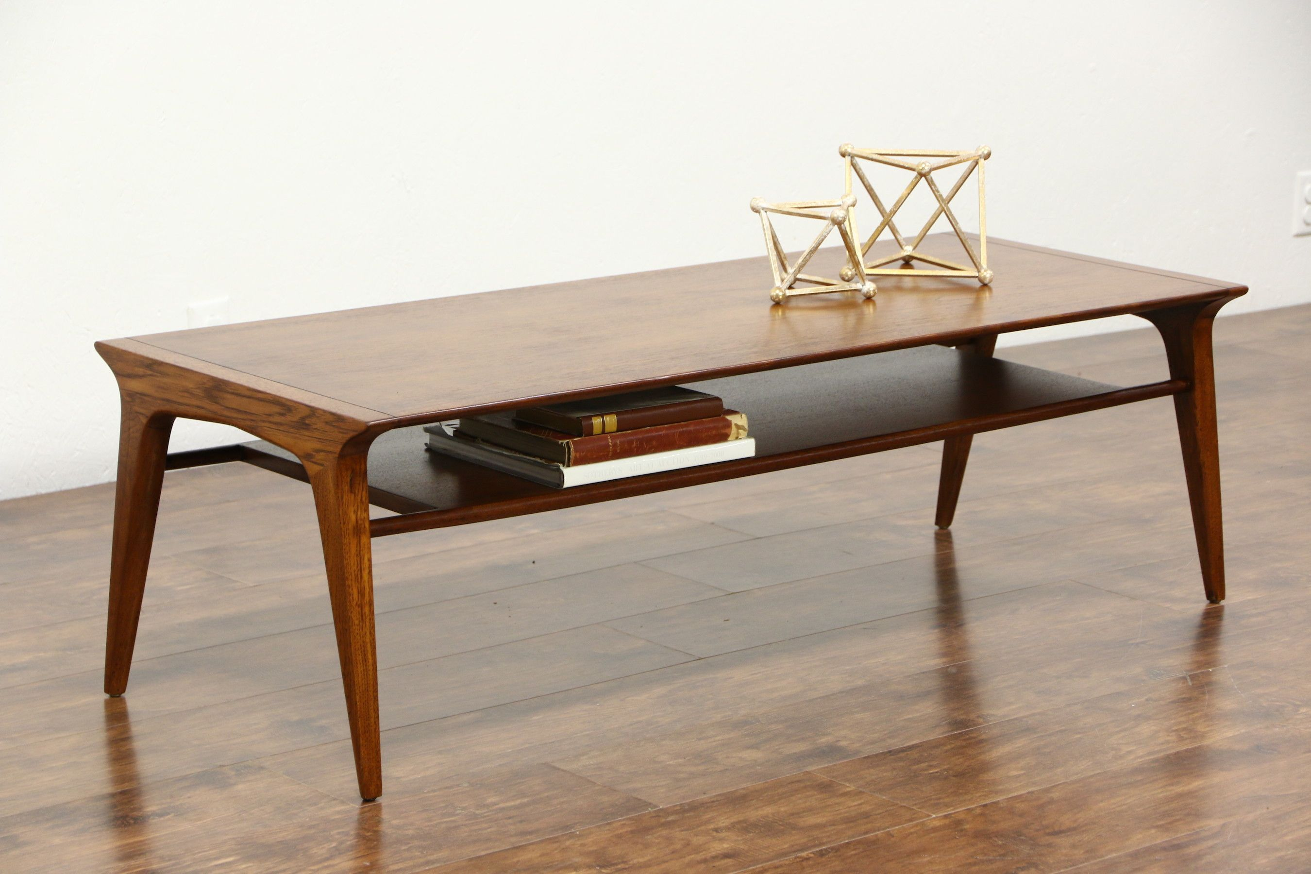 Signed Drexel Profile collection by designer John Van Coert this coffee or cocktail table is walnut. The glowing renewed finish is in excellent condition on  - Coffee Table - Ideas of Coffee Table #CoffeeTable