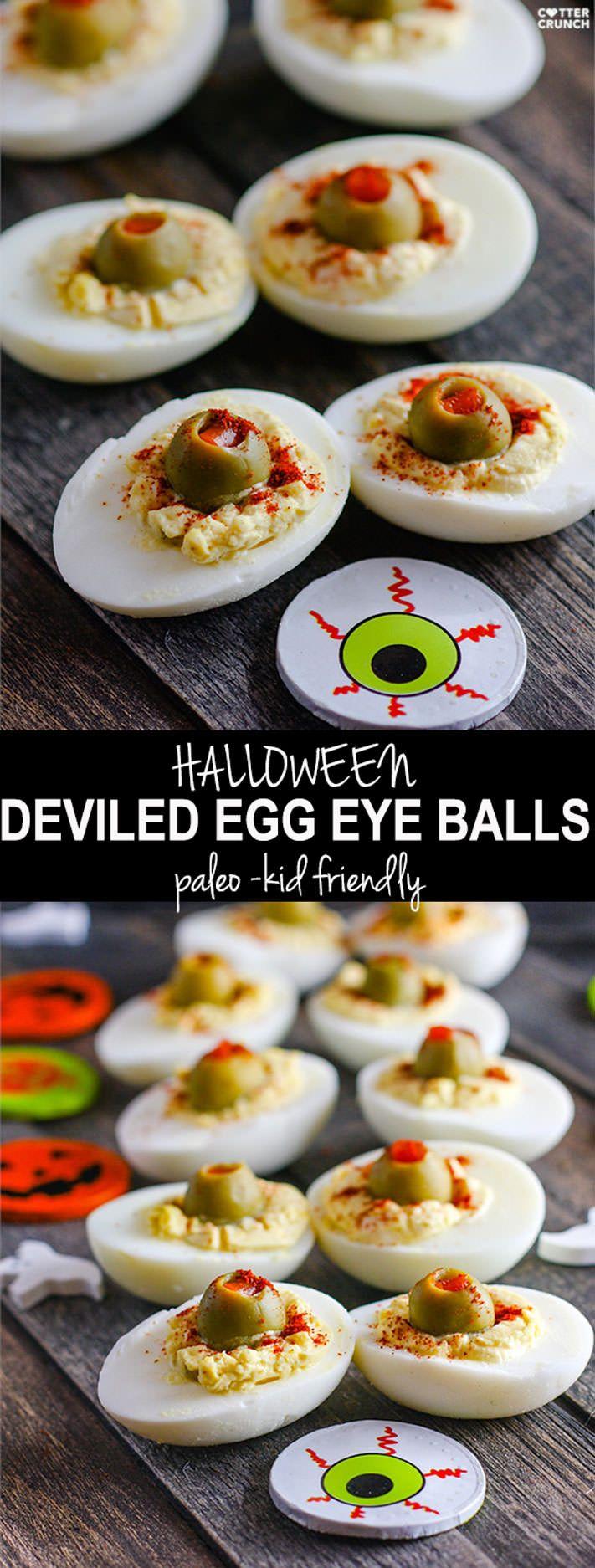 Deviled Egg Halloween Eyeballs (Paleo) Recipe