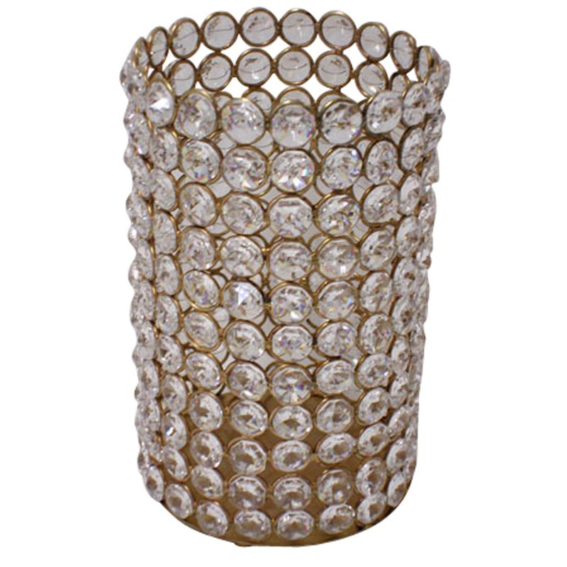 """Wholesale Event Solutions - 7.5"""" Crystal Cylinder in Gold, $56.10 (http://www.eventswholesale.com/7-5-crystal-cylinder-in-gold/)"""