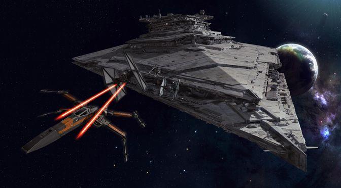 Finalizer Star Destroyer from Star Wars Episode VII The Force Awakens
