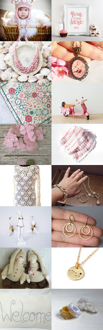 Finds SEW pink for summer 2016! by Petunia M. on Etsy--Pinned+with+TreasuryPin.com