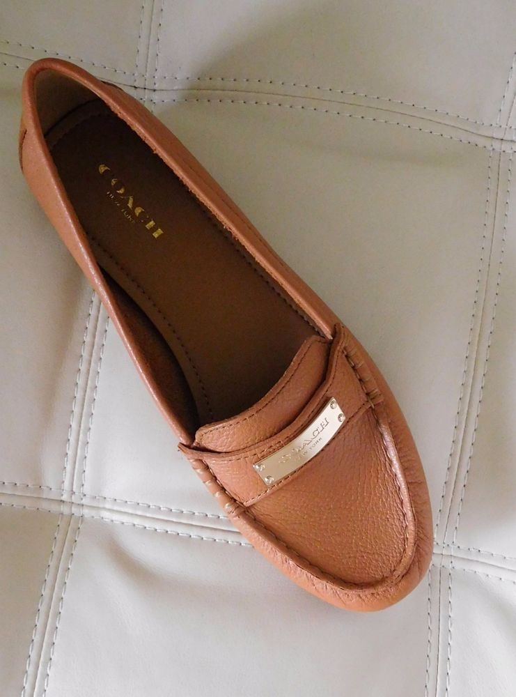 694f62c5e3b New Coach Fredrica Loafer Ginger Tan Size 8.5M A5175 Pebble Grain Leather   Coach  LoafersMoccasins