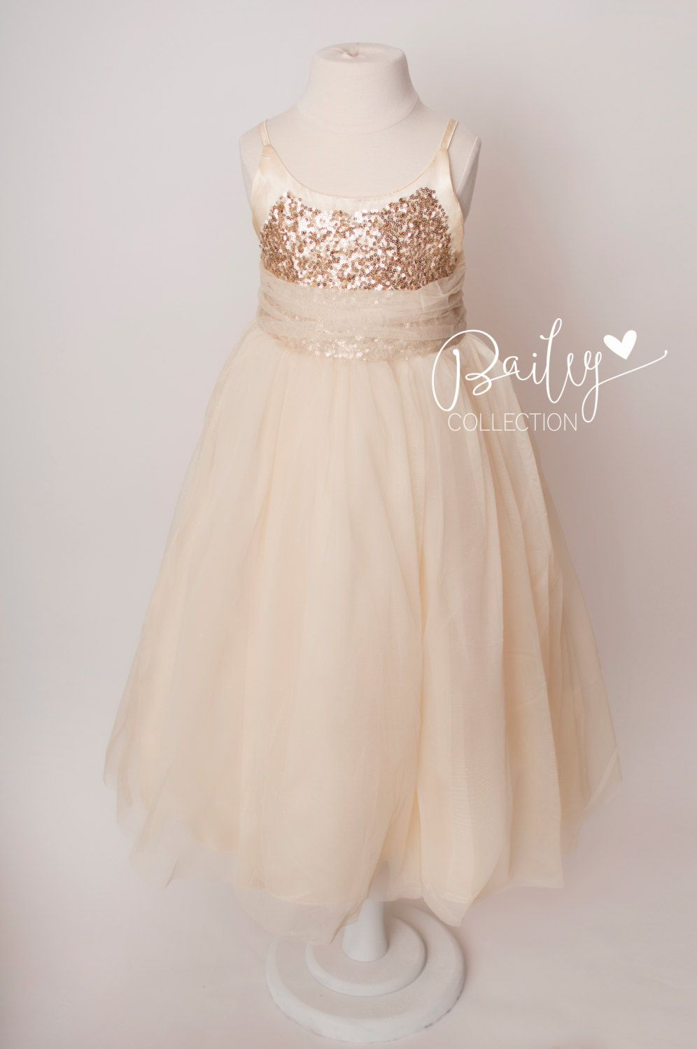 size gold sequin sparkle tulle gown long dress bridal flower
