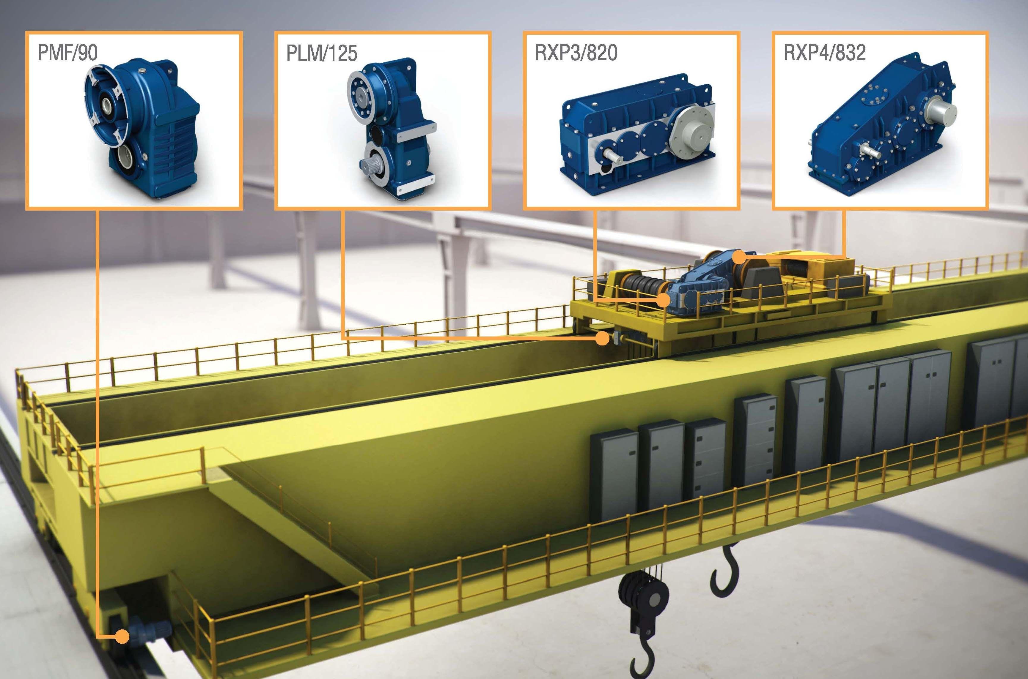 Maquinaria para el sector industrial. Maquinaria para elevación. Puentegrua.