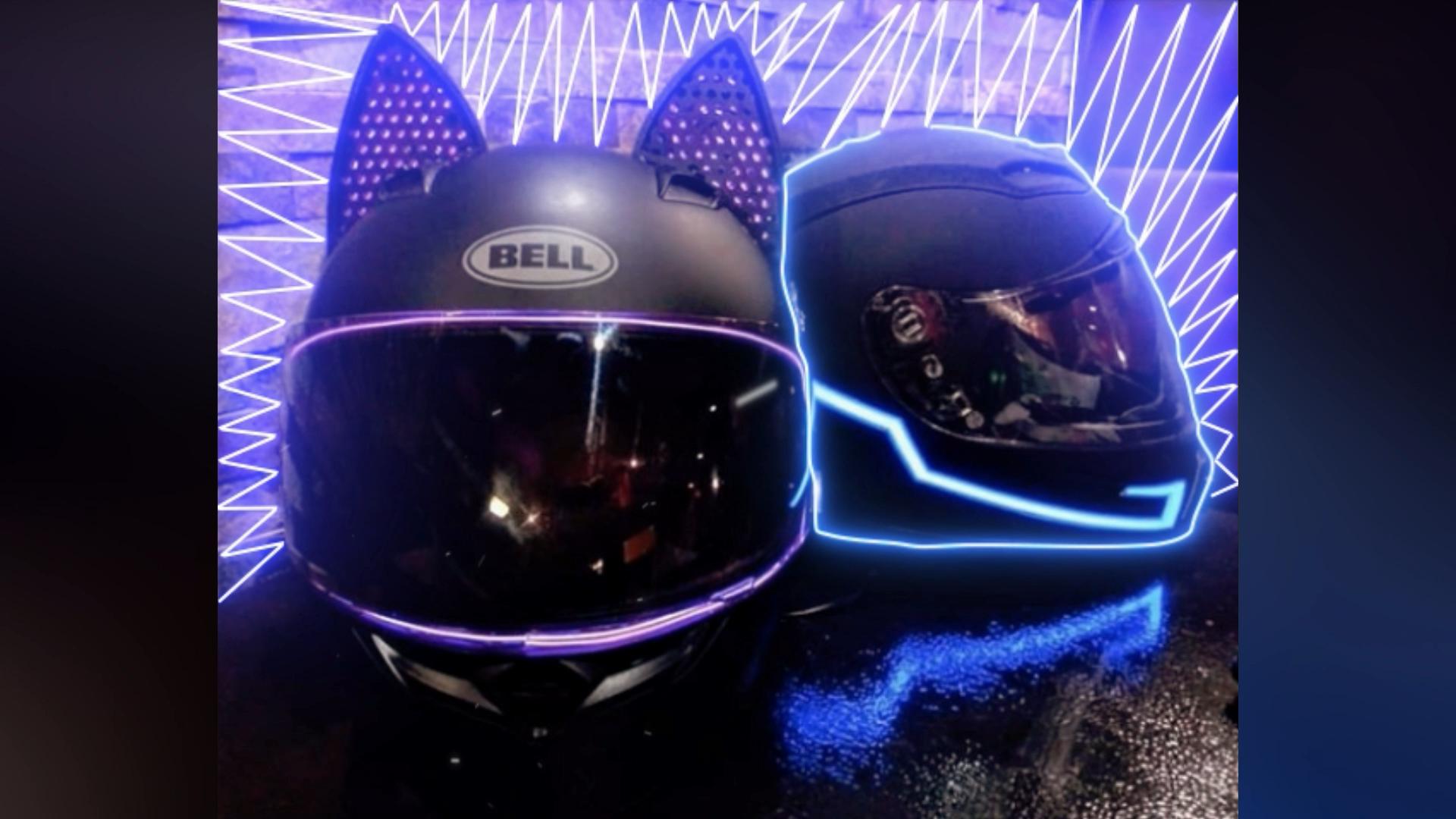 Cat Ear Helmets Glowing