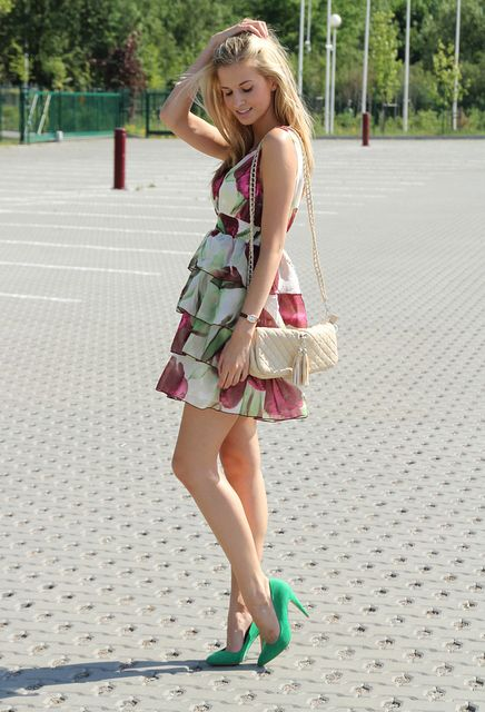 shoes, heels, stilettos, pumps, green