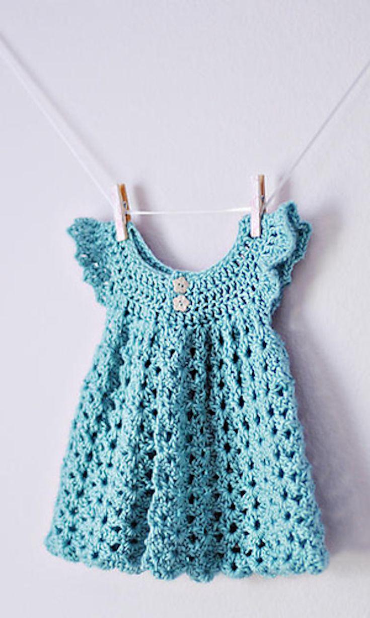 Free Crochet Pattern Beautiful Crochet Baby Dress Angel