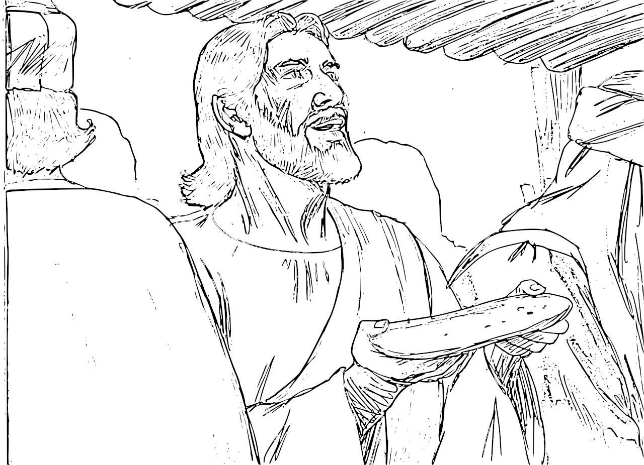 Good Friday Lords supper coloring page Coloring pages