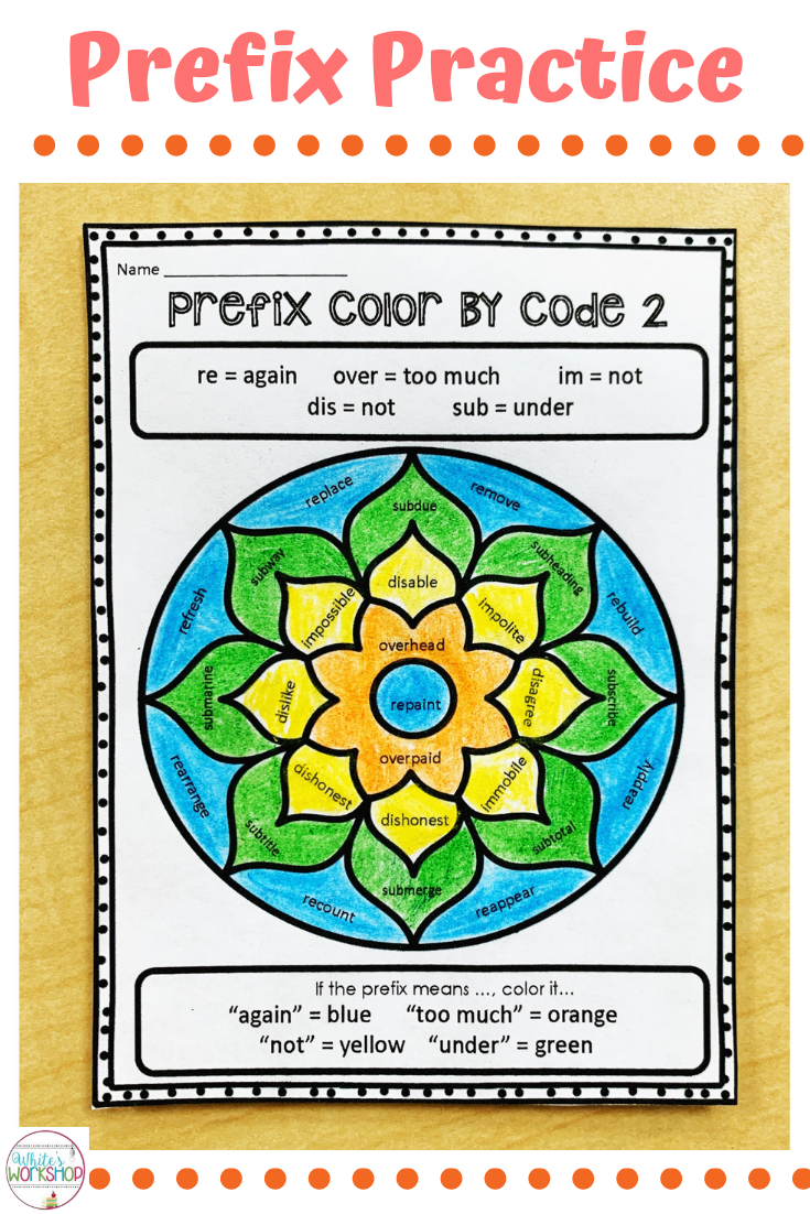 hight resolution of Prefix worksheets for 3rd