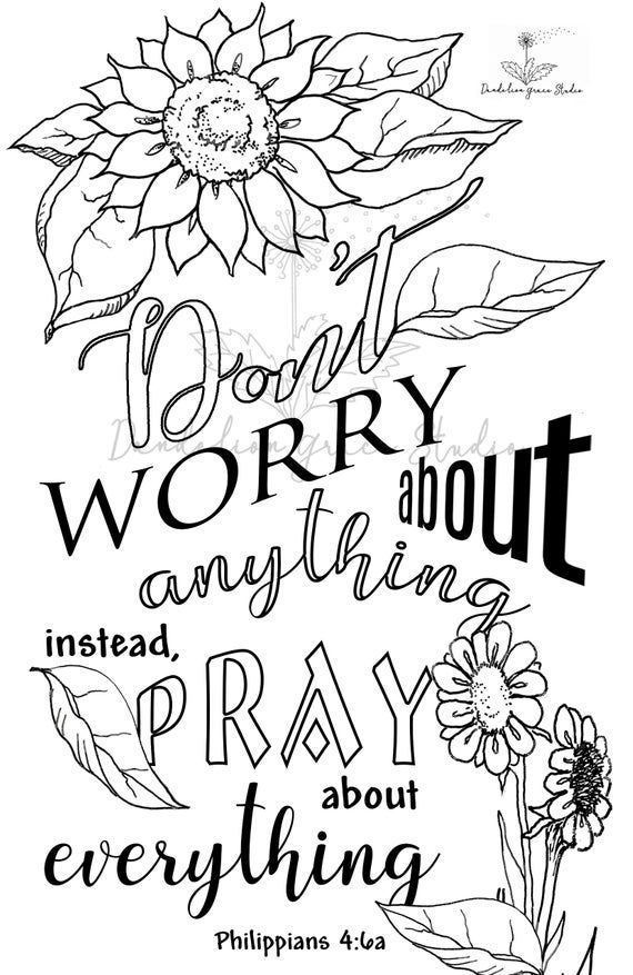 2 Bible Journal Templates Don T Worry Printable Traceable Scripture Coloring Homeschool Illustrated Faith Download Jpeg Bible Coloring Pages Prayer Journal Template Bible Verse Coloring Page