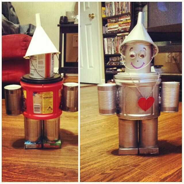 Create Your Own Tin Man Out Oif Canned Soups Folgers Can Jello Bo Funnel I Loved Creating Thisl
