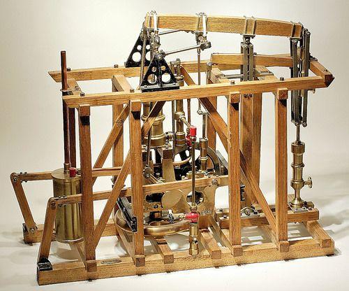 25 - Ortsveränderliche Pumpenmaschine von Brendel 1807 / Model steam engine