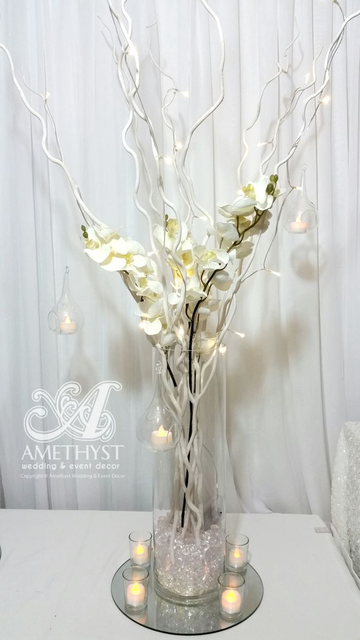 White Orchid Willow Cylinder Centerpiece - $20 to $35diy hire ...