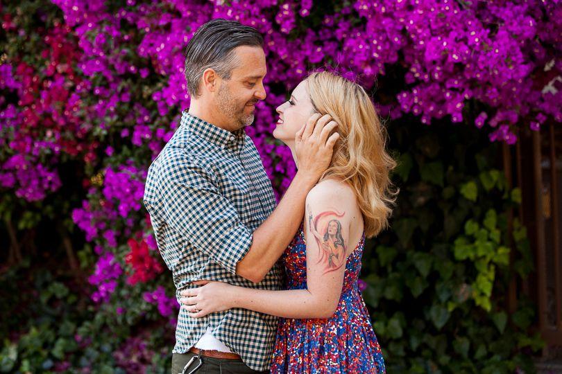 Engagement photos, love, happy, couple, fiance, bride, groom, wedding, tying the knot, beauty, photography, San Juan Capistrano, flowers, color,  highsocietyeventplanning.com