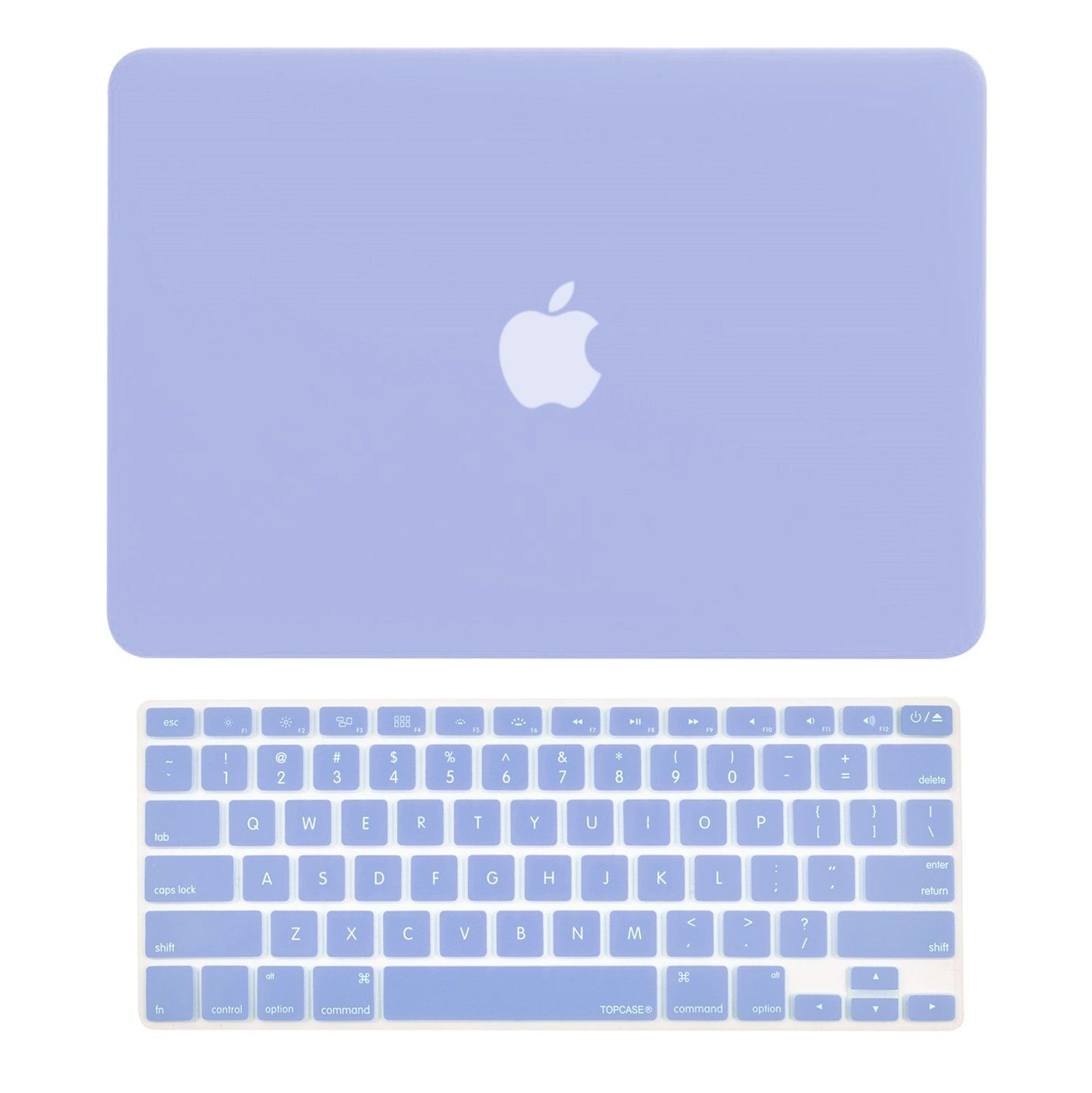 """TOP CASE 2 in 1 - Macbook Air 13"""" Rubberized Case Cover + Keyboard Cover - Serenity Blue"""