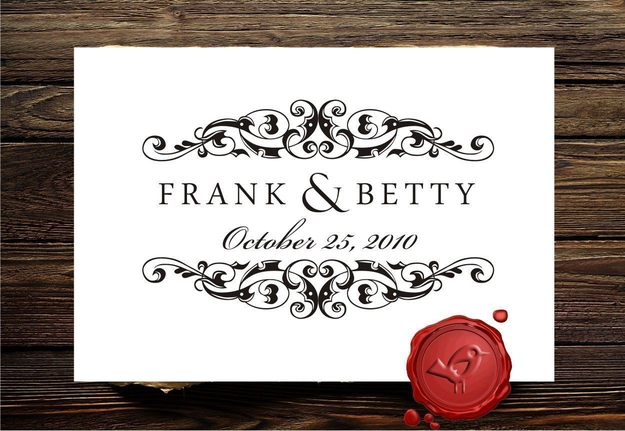 Save The Date Custom rubber stamp - wedding monogram - custom ...