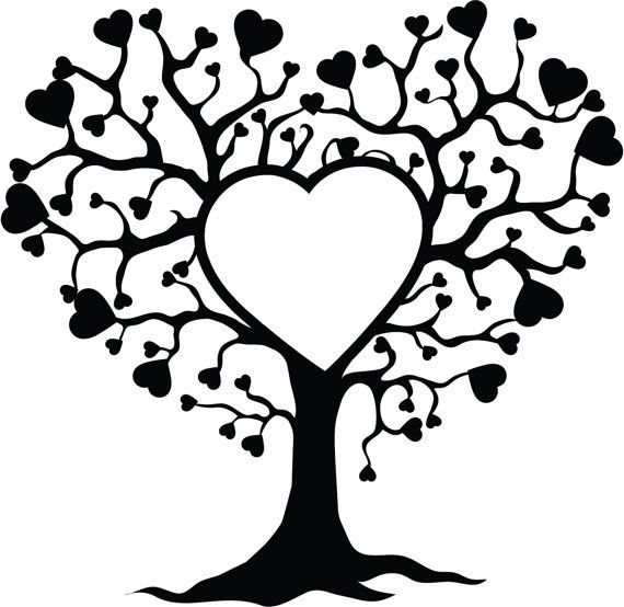 Tree of life with hearts embroidery design | Baum des Lebens ...