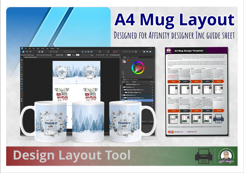 Affinity Designer Mug Design Template Layout Tool Perfect Etsy Design Template Mug Template Mug Designs