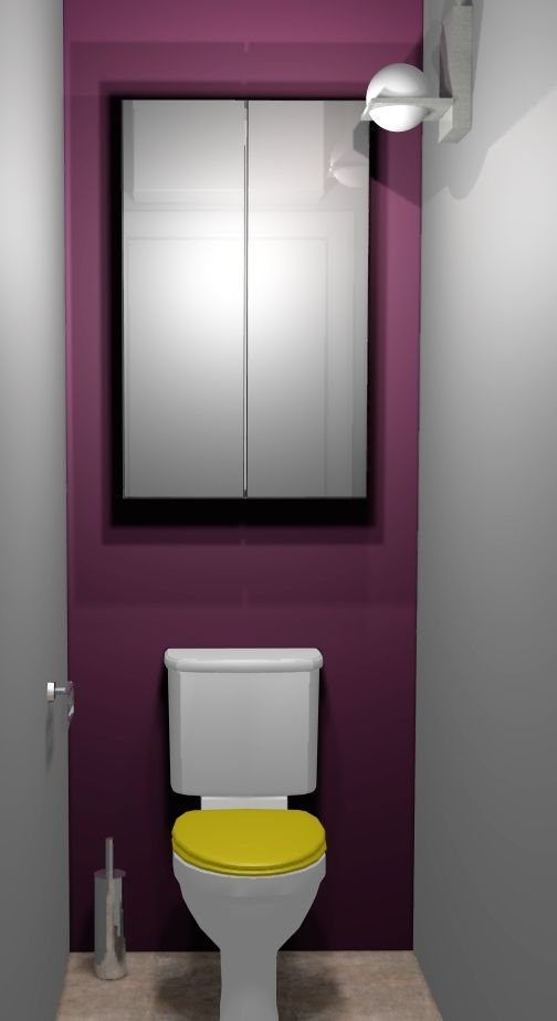 Mod le d coration interieur toilettes idees deco toilettes pinterest - Decor de toilettes wc ...