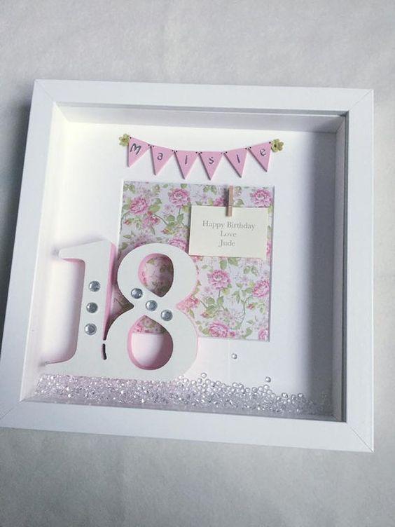 Birthday Box Frame 18th 21st 30th 40th 50th 60th By