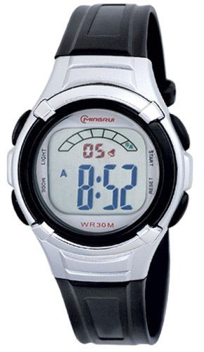 30m Waterproof Digital Boys Girls Sport Watch with Alarm Stopwatch Chronograph MR85235 ** Read more at the image link.