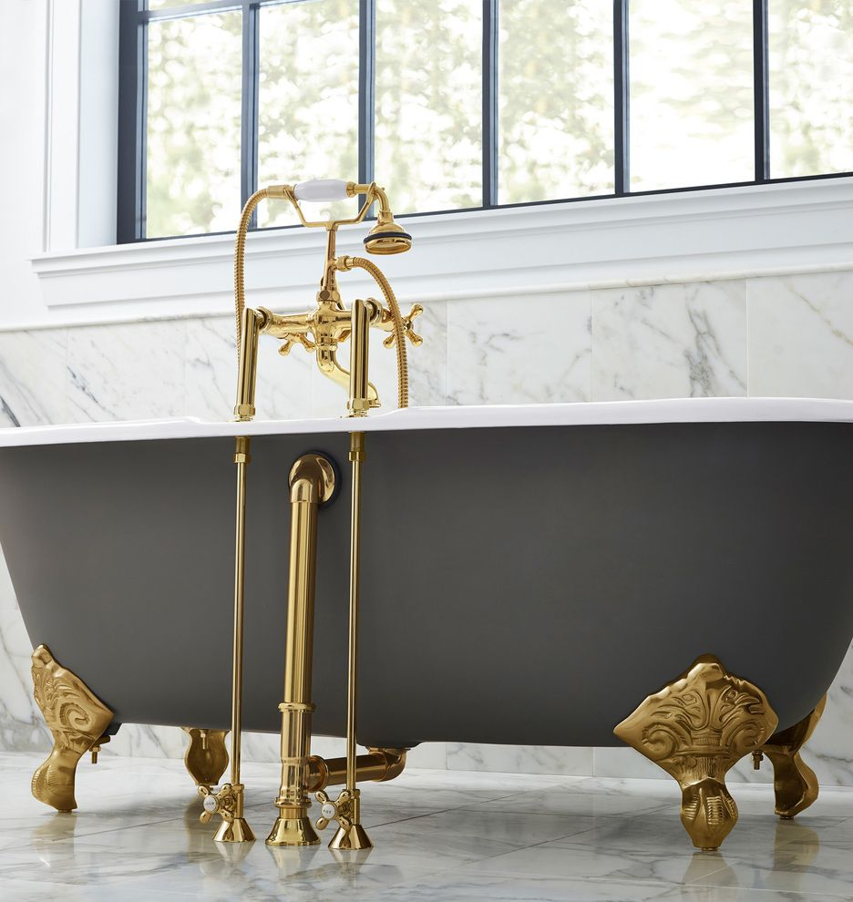 5-1/2' Double-Ended Clawfoot Tub with White Exterior