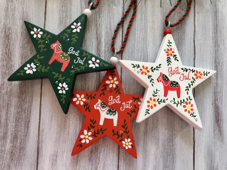 Swedish Christmas Ornaments Sweden Christmas Decorations Etsy In 2020 Scandinavian Christmas Decorations Sweden Christmas Swedish Decor