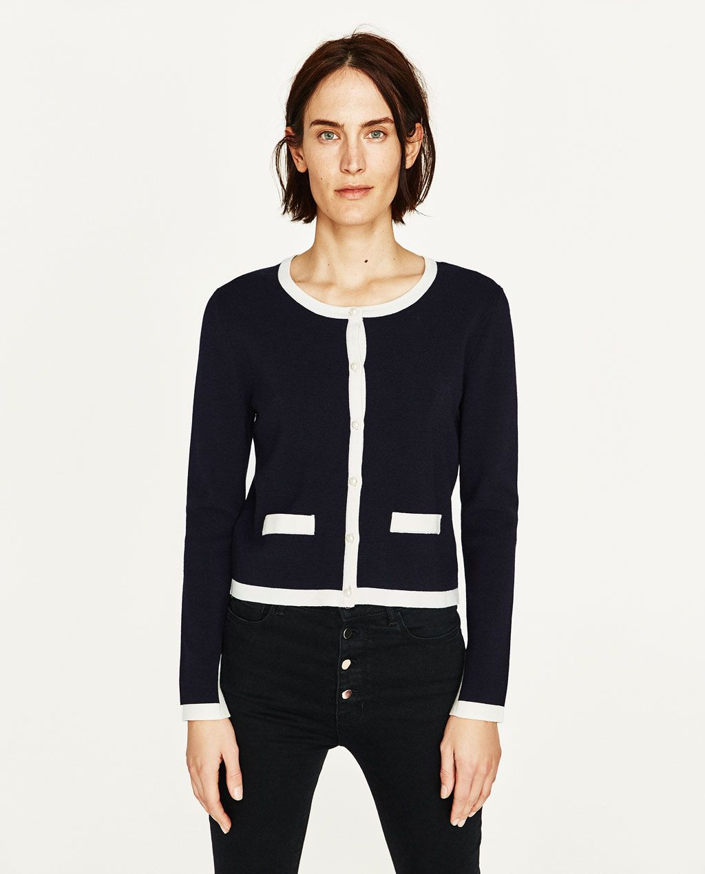 Image 1 of KNIT CARDIGAN from Zara