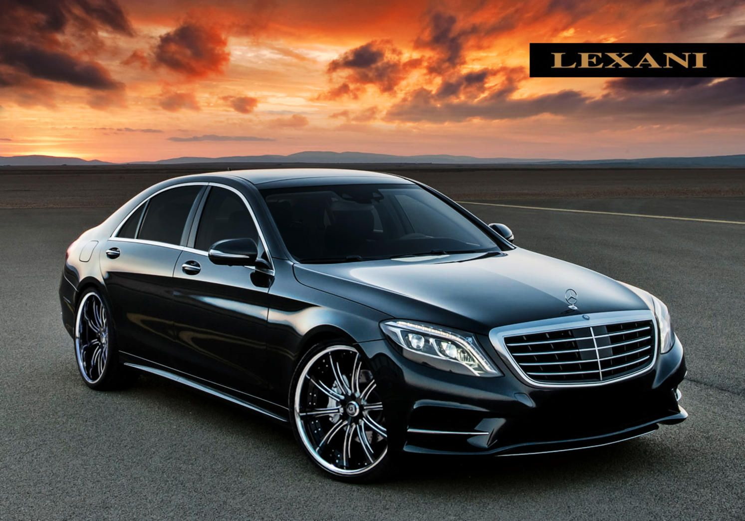lexani wheels the leader in custom luxury wheels the 2014 mercedes benz s class with chrome. Black Bedroom Furniture Sets. Home Design Ideas