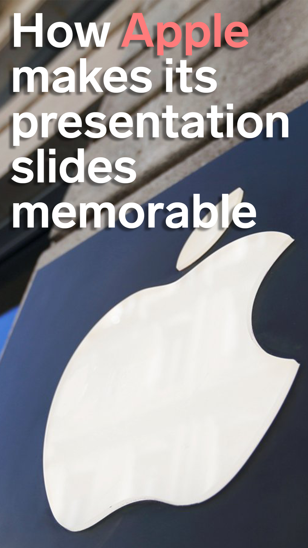 Tim Cook And Apple Leaders Use This Clever Presentation Hack Borrowed From Steve Jobs To Make Slides Memorable How To Memorize Things Presentation Steve Jobs