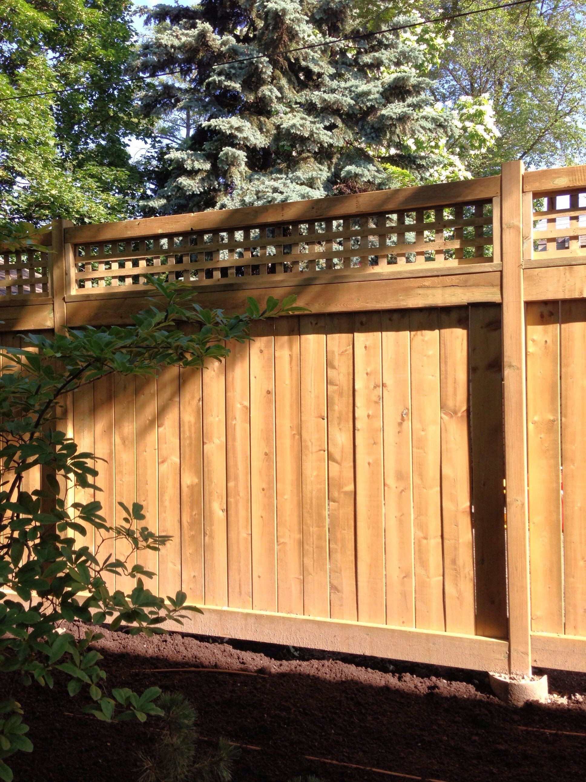 Cedar fence with lattice, by Mark McInnis, Toronto. | Cedar Fence ...