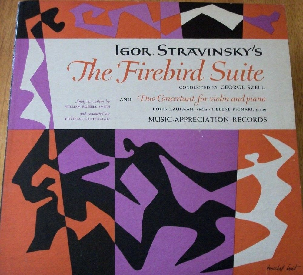 "Stravinsky / Firebird Suite / 12"" Vinyl LP Record / George Szell / Helene Pignari #Classical #Music #Album"