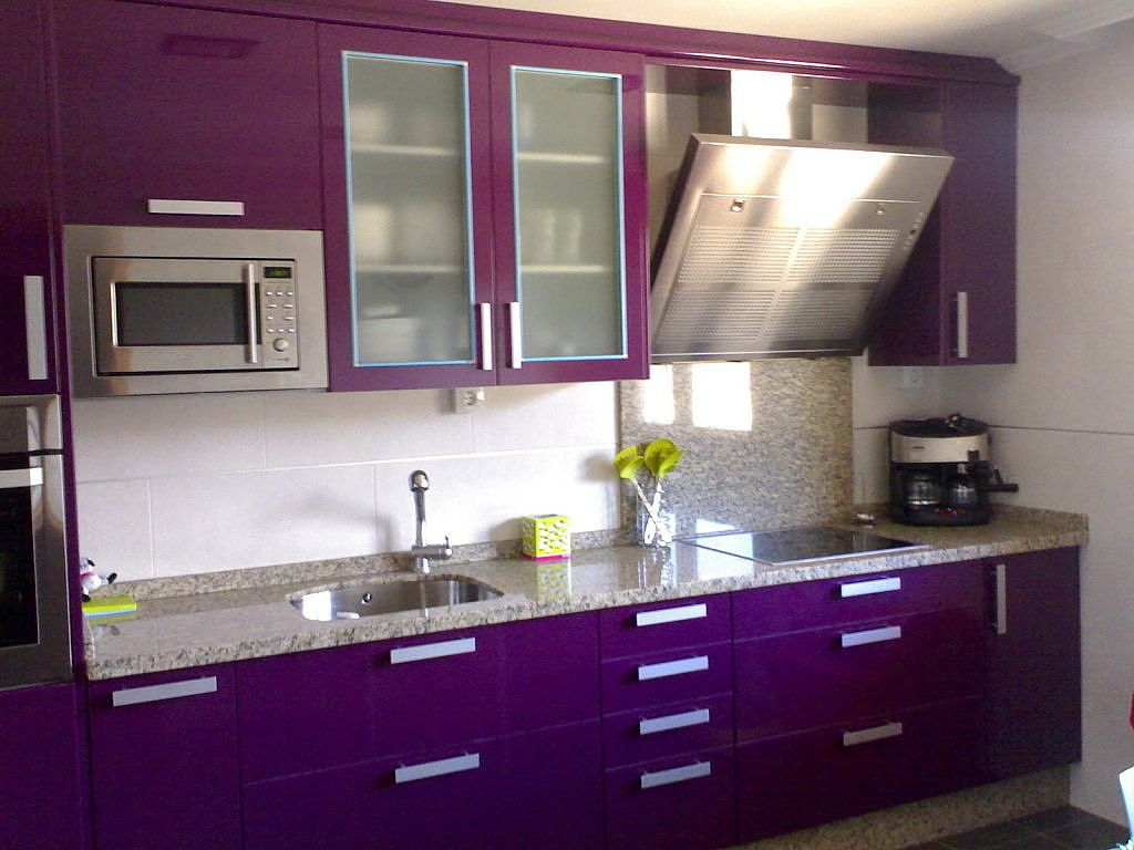 purple kitchen with lime counters! | Home - Dream House One Day ...