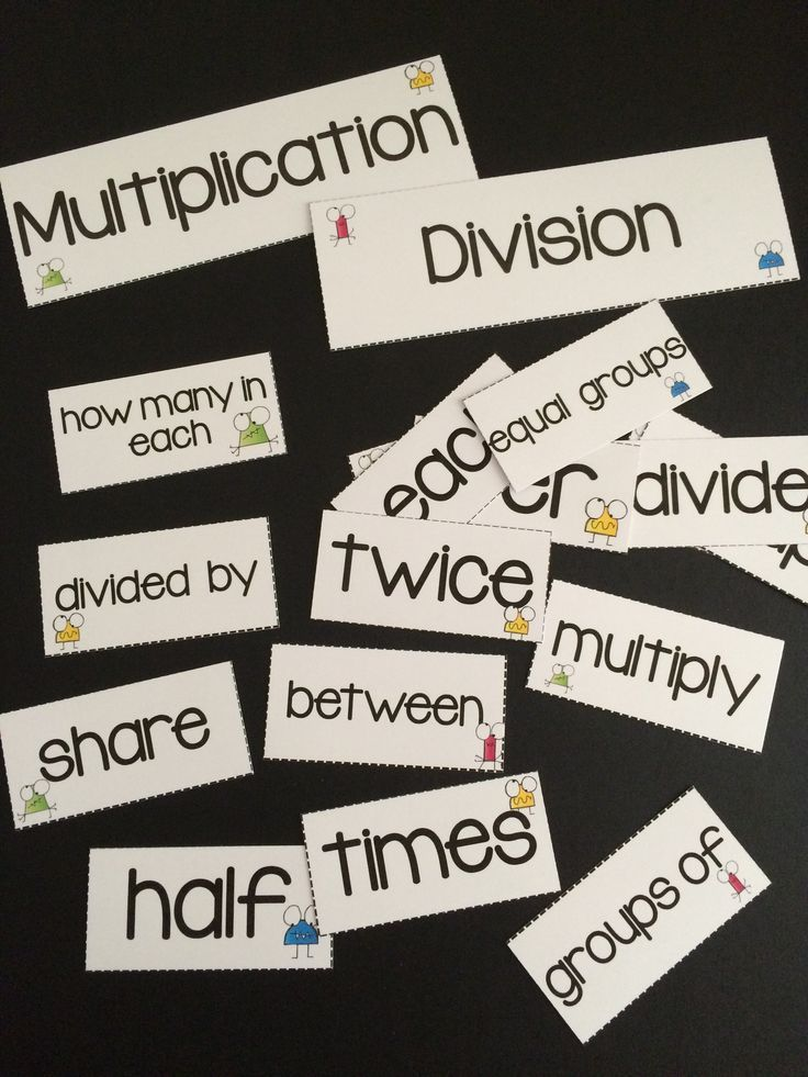Download this FREE collection of multiplication and division key ...