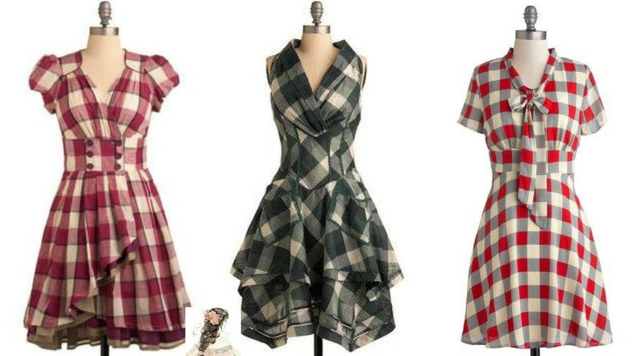 Ladies Check Shirts Designs | Stylish Cotton Check Shirts Frocks Designs For Girls Latest Casual