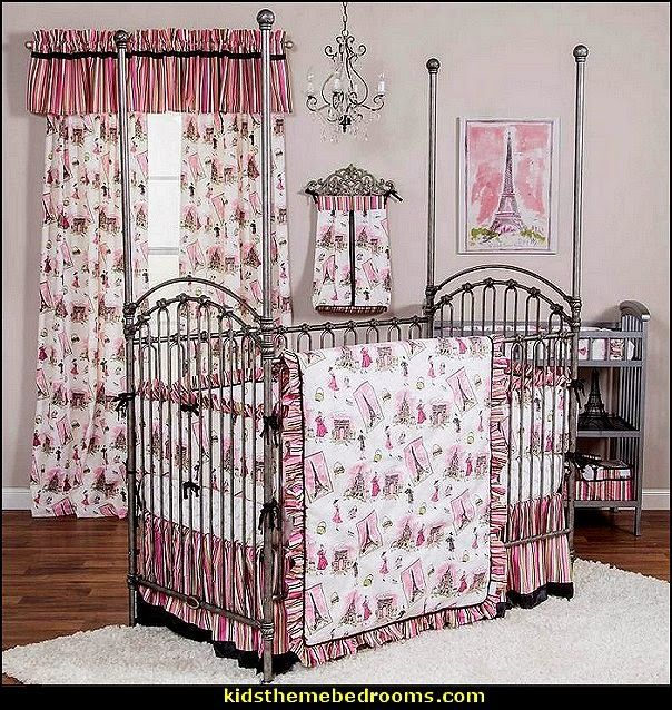 Paris Style Bedroom tre chic crib bedding-paris theme baby bedding | paris themed teen