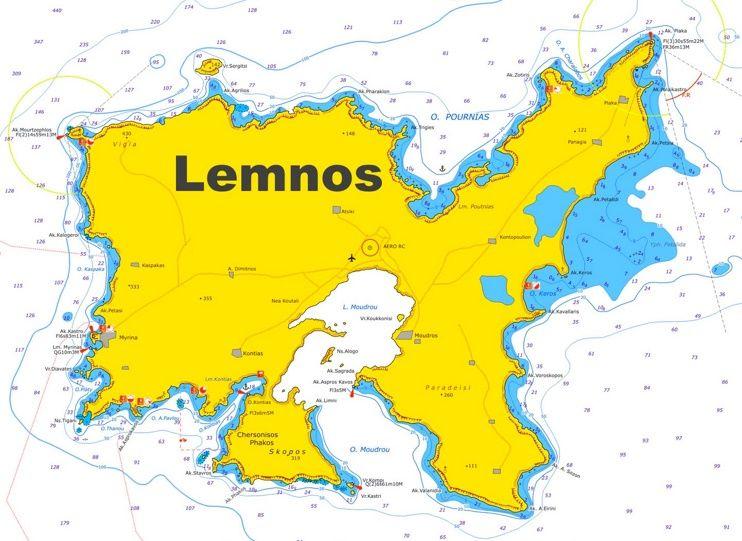 Lemnos tourist map Maps Pinterest Tourist map and Greece islands