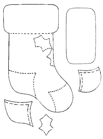 holiday stocking template  Stocking paper template. | Christmas stocking template ...
