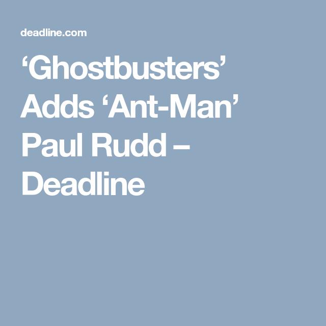 Paul Rudd Boarding Jason Reitman S Ghostbusters Paul